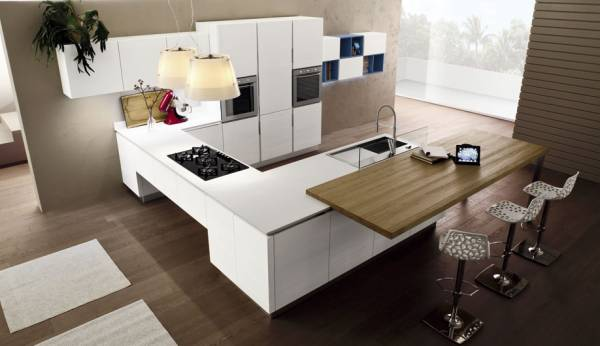 Cucine con isola centrale in offerta for Cucine moderne isola centrale