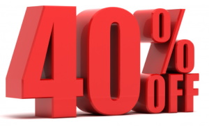 sconto del 40%