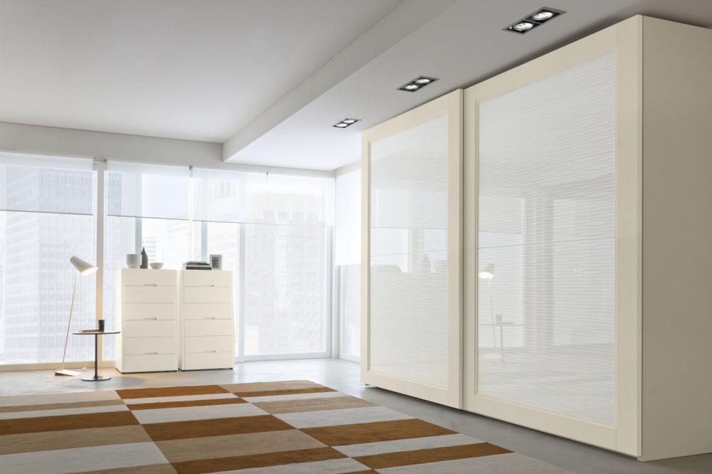 armadio anta disponibile in vetro decorato o specchio
