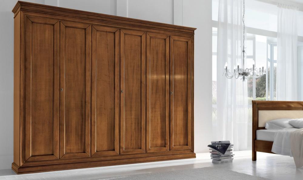 armadio ante battente in puro legno di tiglio