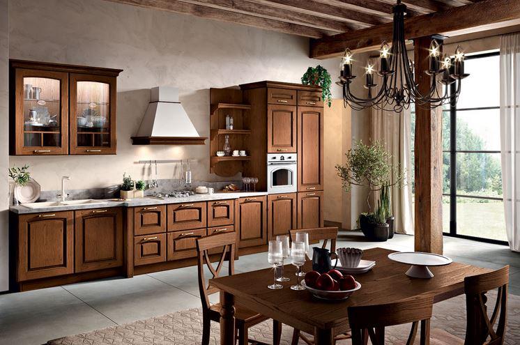 cucina Spar modello borgo finitura noce a Roma