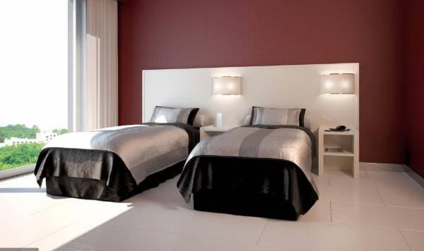Camera da letto per albergo con letti singoli