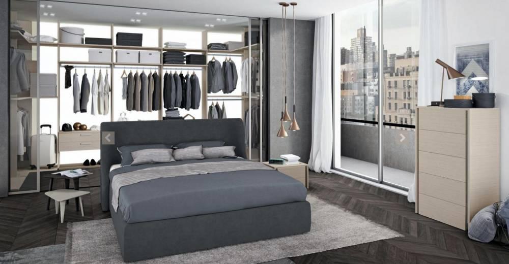 camera da letto moderna con cabina armadio Colombini