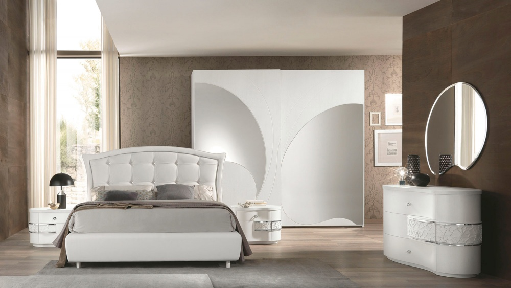 Camera da letto contemporanea dalla raffinatezza luminosa - Camera letto contemporanea ...
