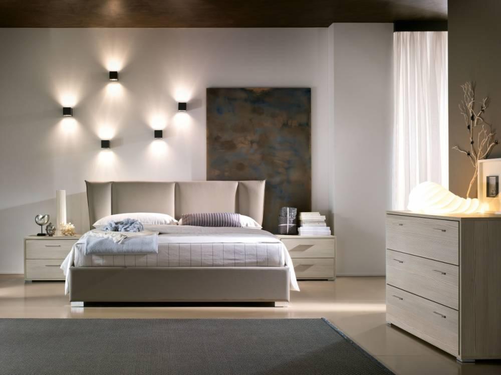 letto imbottito per camera moderna