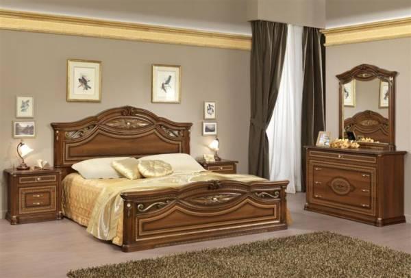 camera da letto modello marika valnut legno noce
