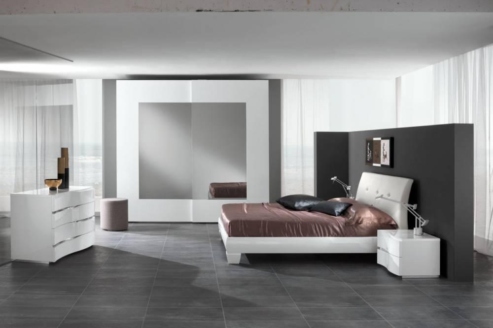 Camera da letto moderna laccato bianco for Camere da letto