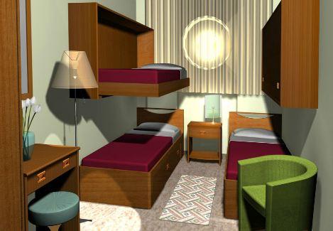 Camera con un letto sospeso for Ingrosso arredamenti veneto