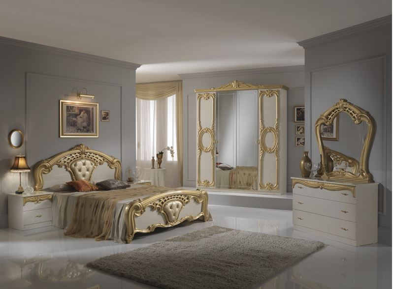 silver and gold bedroom mobili export 17059