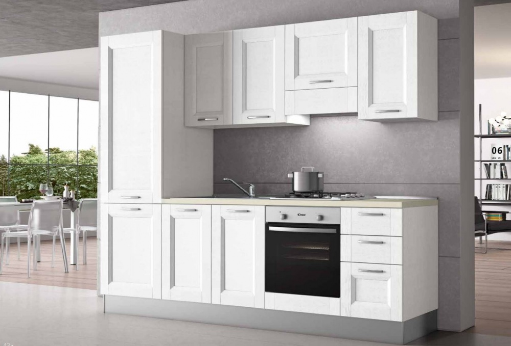 Cucina anta a telaio colore bianco for Ingrosso oggettistica cucina