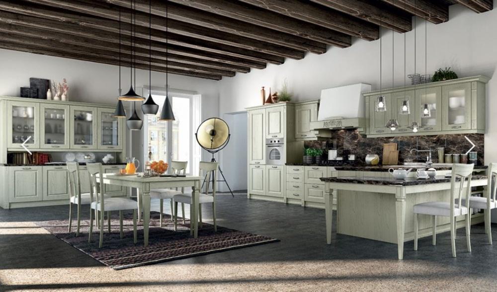 cucina anta decape´ verde salvia