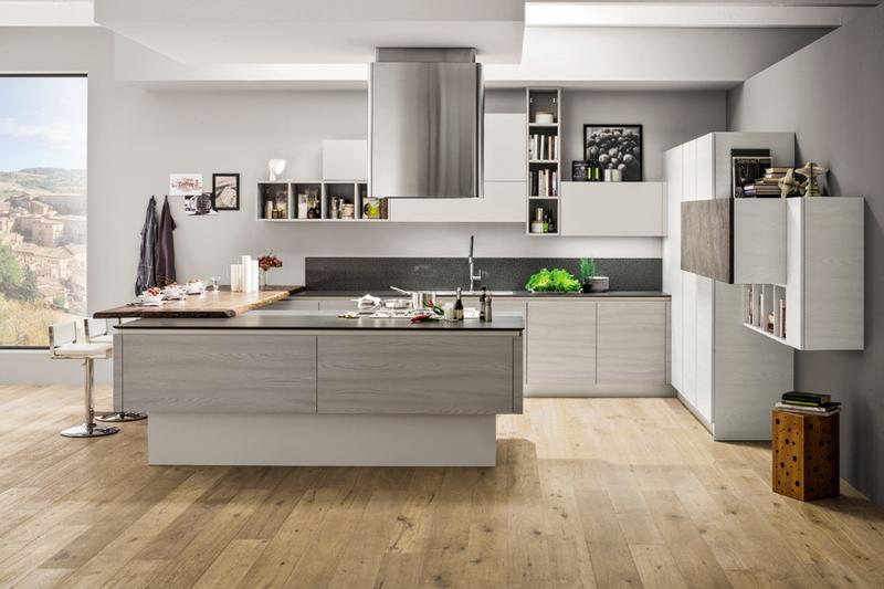 Cucina con penisola innovativa arredamenti arrex - Cucina con penisola centrale ...