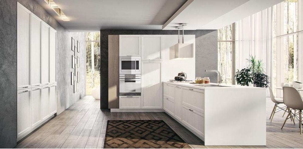cucina moderna rovere spazzolato laccato