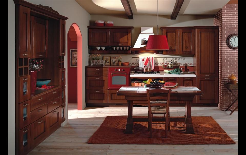 cucina classica modello fattoria a roma