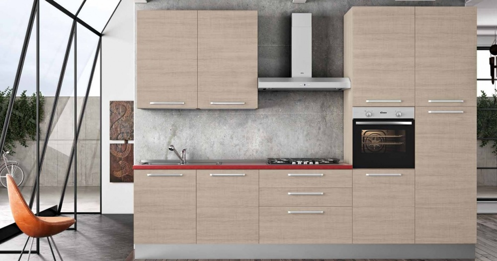 cucina moderna lineare mt 3,30