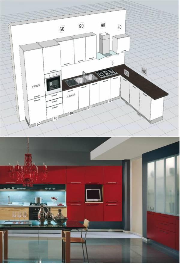 cucina ante varie finiture dal laccato al laminato o legno