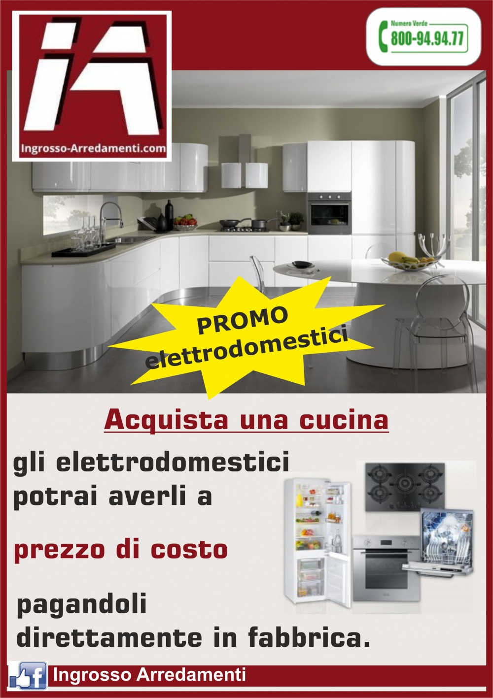 Cucine in offerta Roma - elettrodomestici a prezzo di costo