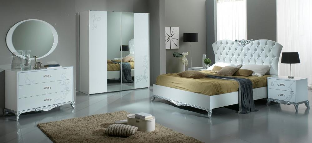 camera da letto moderna colore bianco