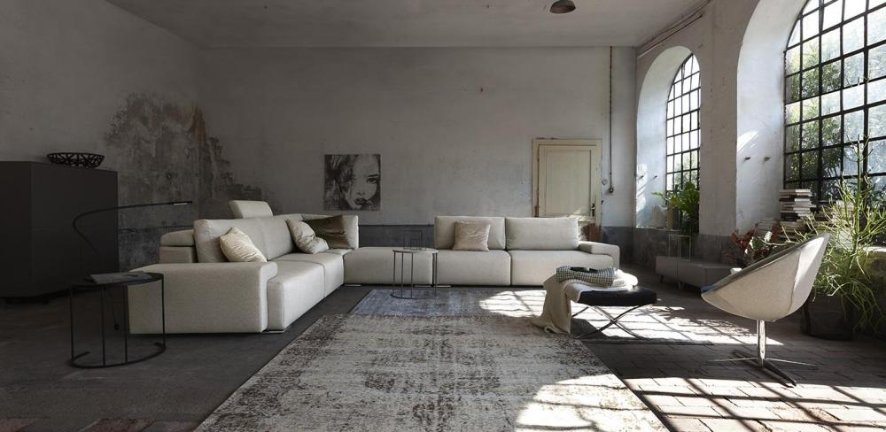 ampi divani moderni rivestimento in tessuto