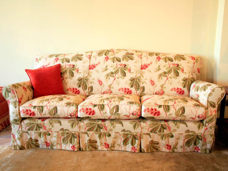 divano in tessuto completamente sfoderabile