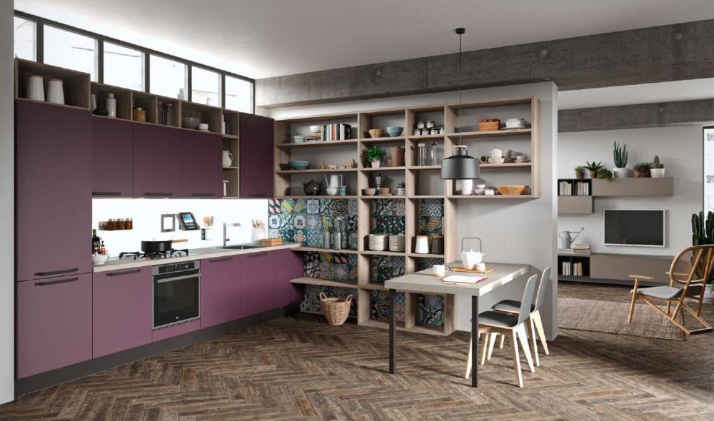 cucina Aran modello faro colore rosa a Padova