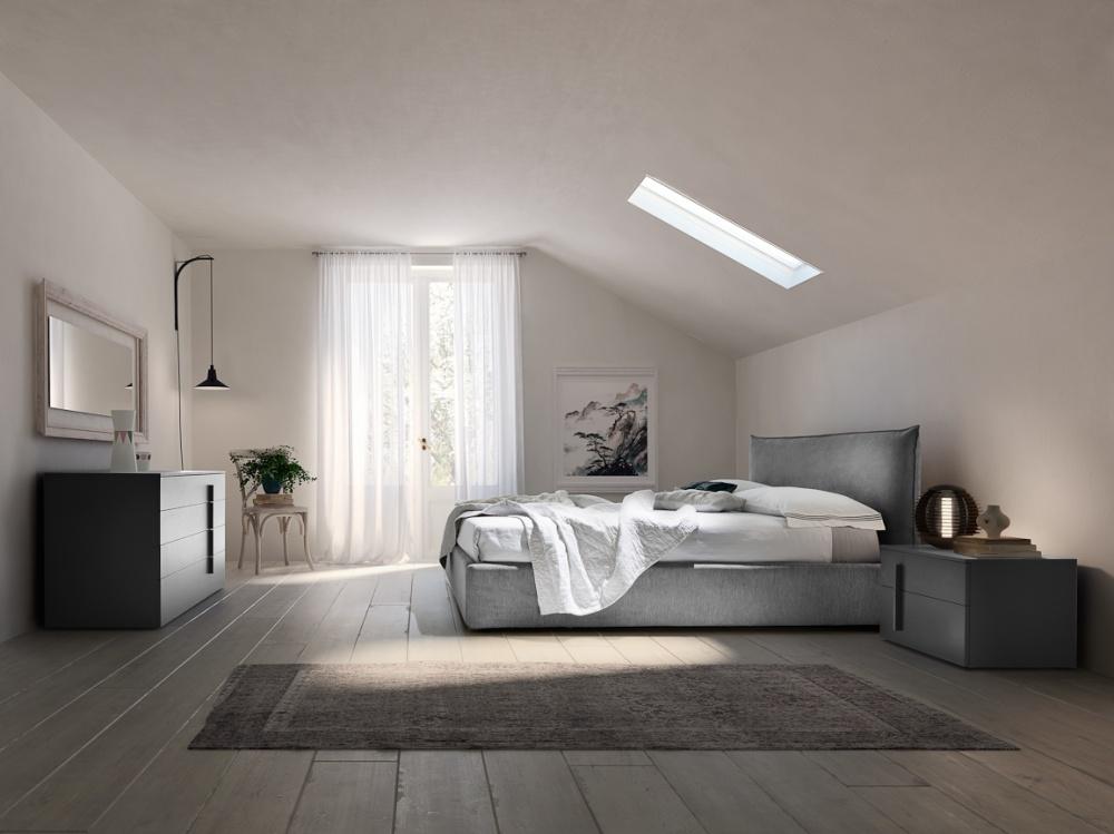 Il confort di un letto imbottito in offerta for Letto design offerta