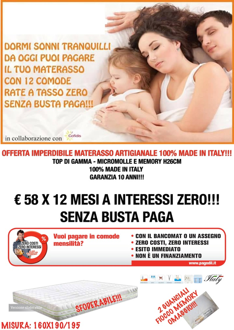 Materasso Matrimoniale Offerte Toscana.Materassi Artigianali Le Nostre Offerte A Roma