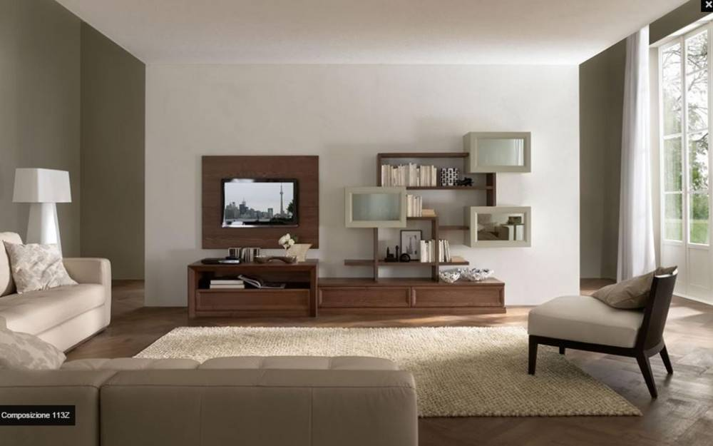 mobile soggiorno classico in essenza
