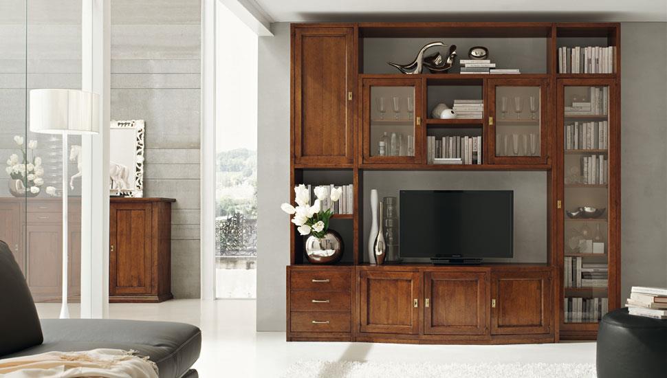 mobile stile classico per piccoli spazi in soggiorno