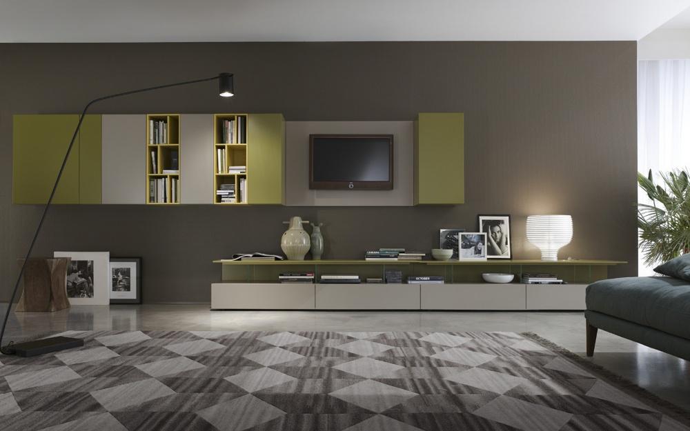 Parete soggiorno ante colorate for Immagini pareti colorate soggiorno
