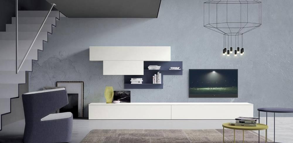 parete soggiorno colore bianco
