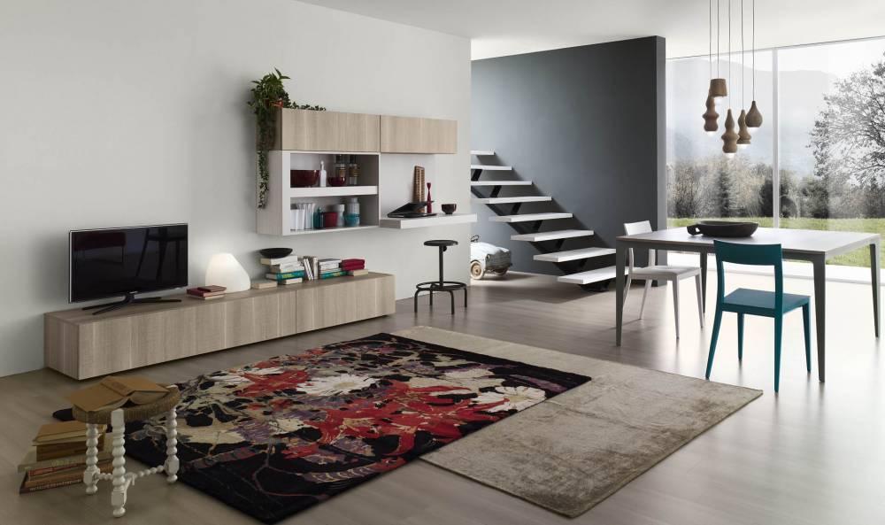 parete soggiorno modello gren azienda Alf da fre