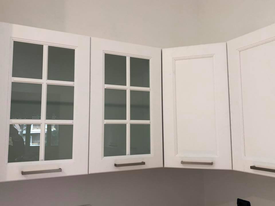 pensile cucina in vetro satinato