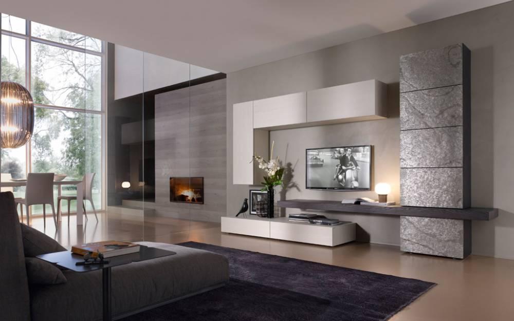 Soluzioni su misura pareti soggiorno for Foto soggiorni moderni
