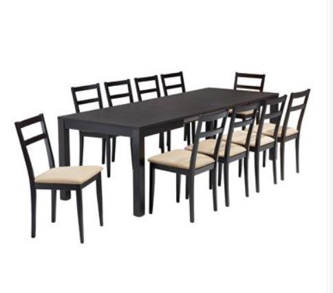 Tavolo rovere moro con sedie seduta imbottita - Tavolo con sedie offerte ...