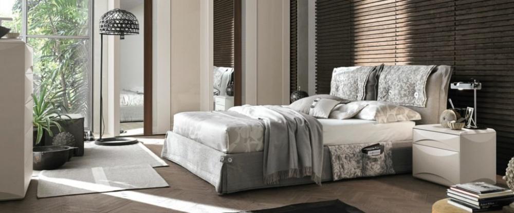 Tomasella camera con letto matrimoniale Amami sfoderabile con o senza contenitore